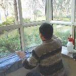 烟台fu山御花园小区家庭玻璃窗tiemo